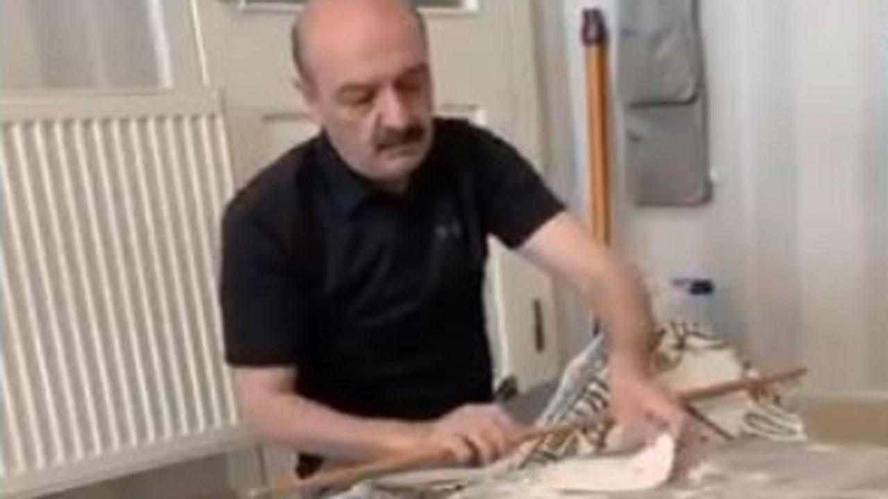 Bahçeli'nin Özel Kalem Müdürü evde hamur açtı