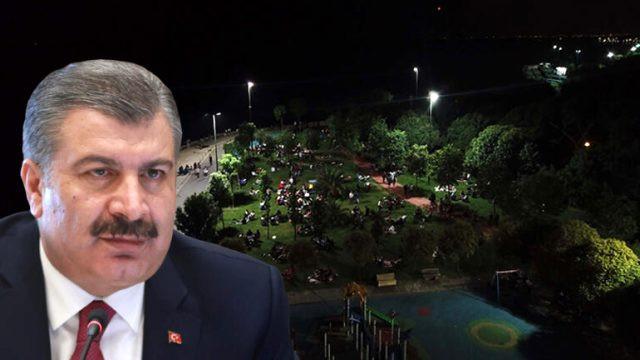 Sağlık Bakanı Koca gece 03.43'te bu görüntüyü paylaşıp tepki gösterdi