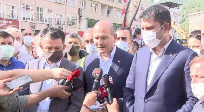 Soylu acı haberi duyurdu: Giresun'daki selde 5 ölü
