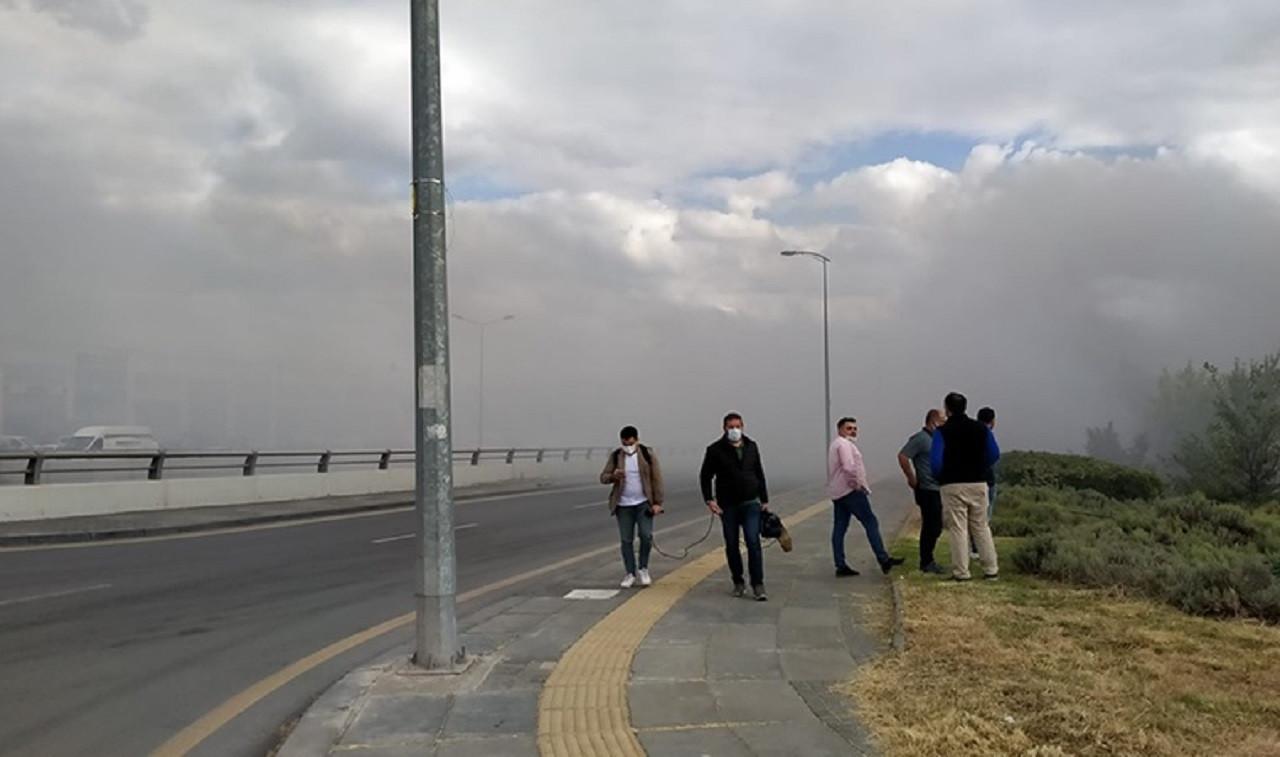 Ankara'da Kimyasal Madde Üreten Fabrikada Yangın Çıktı