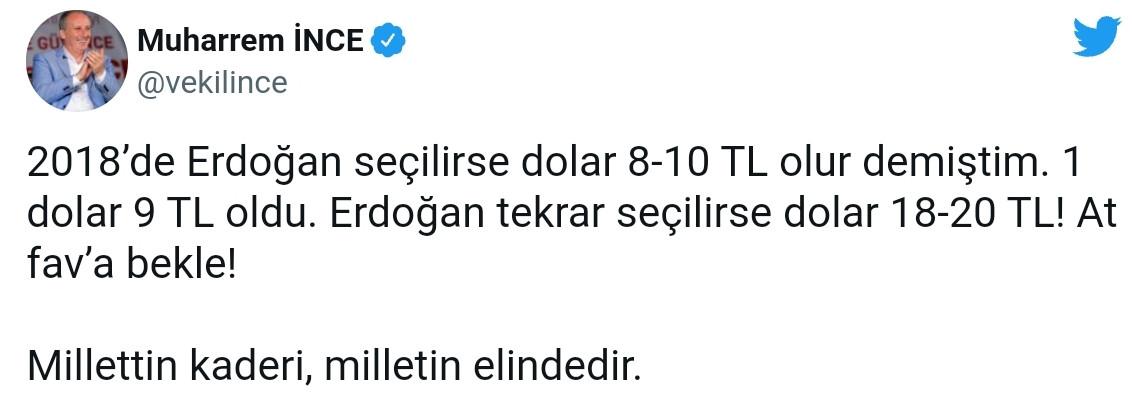 Muharrem İnce'den Flaş Yorum: Dolar 18-20 TL olur - Medyafaresi.com Mobil